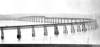 Original Tay Bridge from the north
