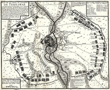 A plan of the Habsburg siege of Timișoara.
