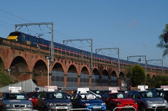 The brick-built 95-arch viaduct in Wakefield