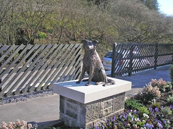 Statue of Ruswarp at Garsdale railway station