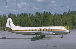 A similar Vickers Viscount to the accident aircraft, depicted in 1972