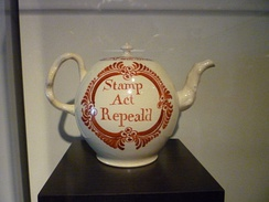 Teapot commemorating the repeal of the Stamp Act