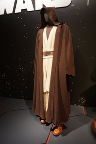 Guinness's robes from Star Wars: Episode IV – A New Hope (1977) on display at the Detroit Institute of Arts