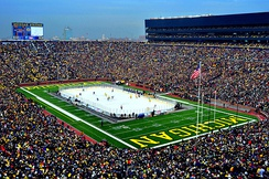 The Big Chill at the Big House was a collegiate ice hockey game played at Michigan Stadium in 2010. The game set the attendance record for ice hockey games