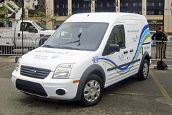 The Azure Transit Connect Electric was produced between 2010 and 2012 as a collaboration between Azure Dynamics and Ford Motor Company.