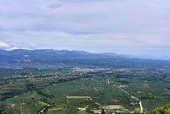 Landscape; view from Mystras