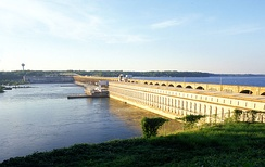 Wilson Dam, completed in 1924, was the first dam under the authority of TVA, created in 1933.