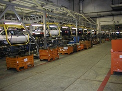 Lada Samara assembly line in 2005
