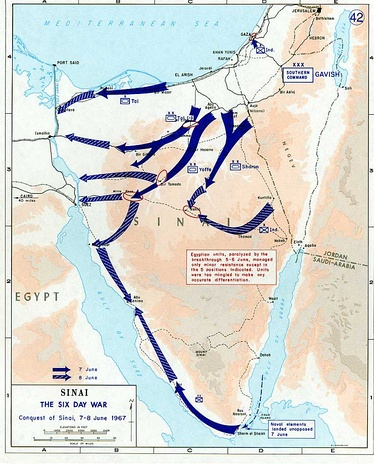Conquest of Sinai. June 7–8, 1967