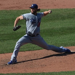 Kershaw during his 20th victory in 2014