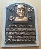 Al López's plaque at the Baseball Hall of Fame