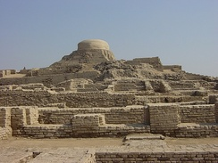 Archaeological ruins at Mohenjo-daro, Sindh, Pakistan