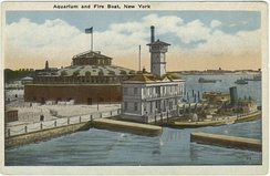 The New York City Aquarium was once housed at Castle Garden (image before 1923)