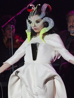 Björk performing at the Auditorio Nacional in Mexico City on March 29, 2017.