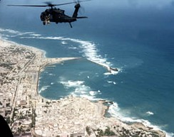 U.S. Army MH-60L during the Battle of Mogadishu in 1993