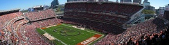 Cleveland Browns games attract large crowds to FirstEnergy Stadium.