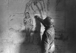 Soldier with tropical fantasy graffiti (1943–1944)