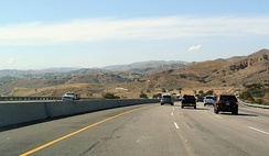 California State Route 118 east of Simi Valley, seen westwards