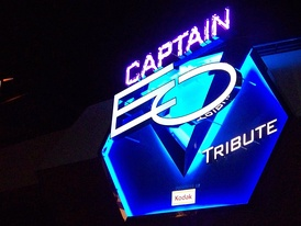 The sign installed for the revival of Captain EO at Disneyland in 2010