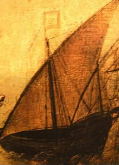 What is believed to be the most accurate depiction of a lateen caravel, featured in the 16th century Retábulo de Santa Auta, now at the National Museum of Ancient Art, in Lisbon