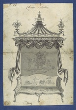 Proposed Chinese sofa by Thomas Chippendale (1753–54)