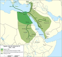Extent of Muhammad Ali's rule in 1840