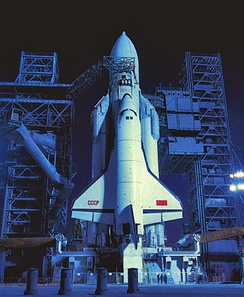 Energia–Buran on launchpad before launch