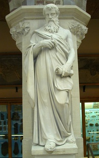 19th-century statue of Euclid by Joseph Durham in the Oxford University Museum of Natural History