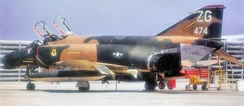McDonnell F-4C-18-MC Phantom, AF Ser. No. 63-7474, 67th TFS/18th TFW (photo taken at Korat RTAFB, Thailand). This aircraft was later modified to the EF-4C Wild Weasel flak suppression aircraft.