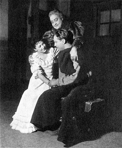 June Walker (Laurey Williams), Helen Westley (Aunt Eller Murphy) and Franchot Tone (Curly McClain) in the original Broadway production of Green Grow the Lilacs (1931)
