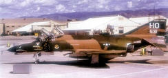 McDonnell Douglas F-4E-41-MC Phantom II AF Serial No. 68-0531 of the 49th FW. This aircraft was brought out of AMARC storage in 1997 as part of the USAF 50th Anniversary and repainted in a Southeast Asia camouflage motif. It is still on the rolls of AMARC as of 2008.