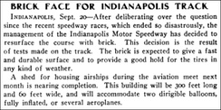 Indianapolis Motor Speedway – Automotive Industries, Volume 21 – September 23, 1909