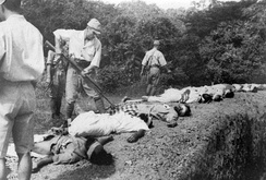 Captured soldiers of the British Indian Army who refused to join the INA were executed by the Japanese.[20]