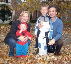 Gillibrand with her husband and sons on Halloween, 2009