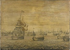 The Dutch herring fleet, c. 1700