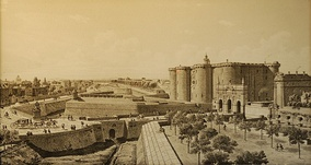 The Bastille of Paris before the Revolution.