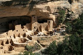 Cliff Palace of Mesa Verde, in Colorado (USA) created by the Ancestral Puebloans