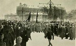Crowd on the Nevski Prospekt