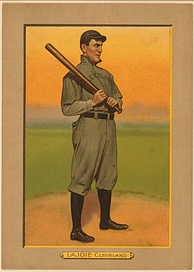 Nap Lajoie on a 1911 baseball card