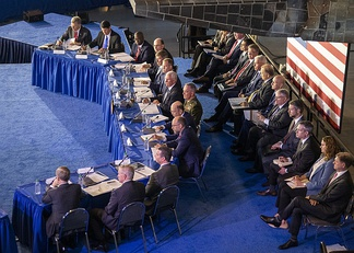 National Space Council meeting in 2019, at the Steven F. Udvar-Hazy Center in Washington D.C.
