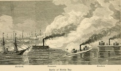 CSS Tennessee fights the Union fleet