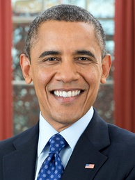 Barack Obama, the incumbent President of the United States in 2016, whose second term expired at noon on January 20, 2017