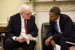 Buffett and President Obama in the Oval Office, July 14, 2010