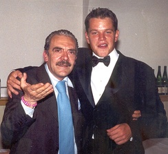 Damon and paparazzo Rino Barillari in Rome in 1999