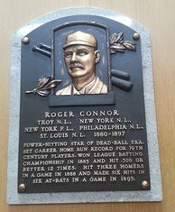 Plaque of Roger Connor at the Baseball Hall of Fame