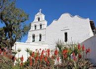Mission San Diego de Alcalá was founded by Serra in 1769, as the first of the California missions.