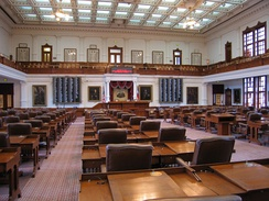 The House of Representatives Chamber in the Texas State Capitol