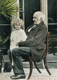 Gladstone at Hawarden with his grandchild Dorothy Drew, daughter of Mary Gladstone