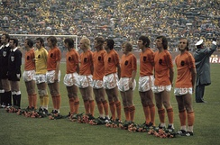 The traditional color of the team was inspired in Netherlands National Football Team in the 70's according to the former president, José Gorrini.