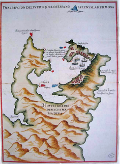 Spanish Map of Keelung and Tamsui Harbor, 1626